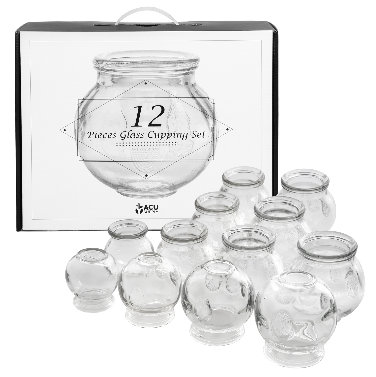 Cupping Treatment: Glass Cupping Therapy Set With Guidance On Application And